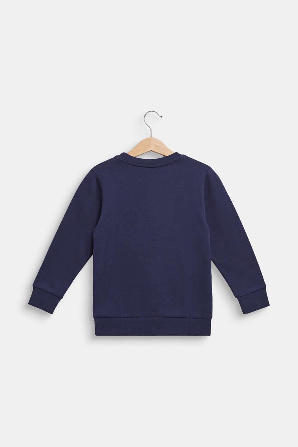 Sweatshirt in 100% cotton, ULTRAMARINE, detail image number 1