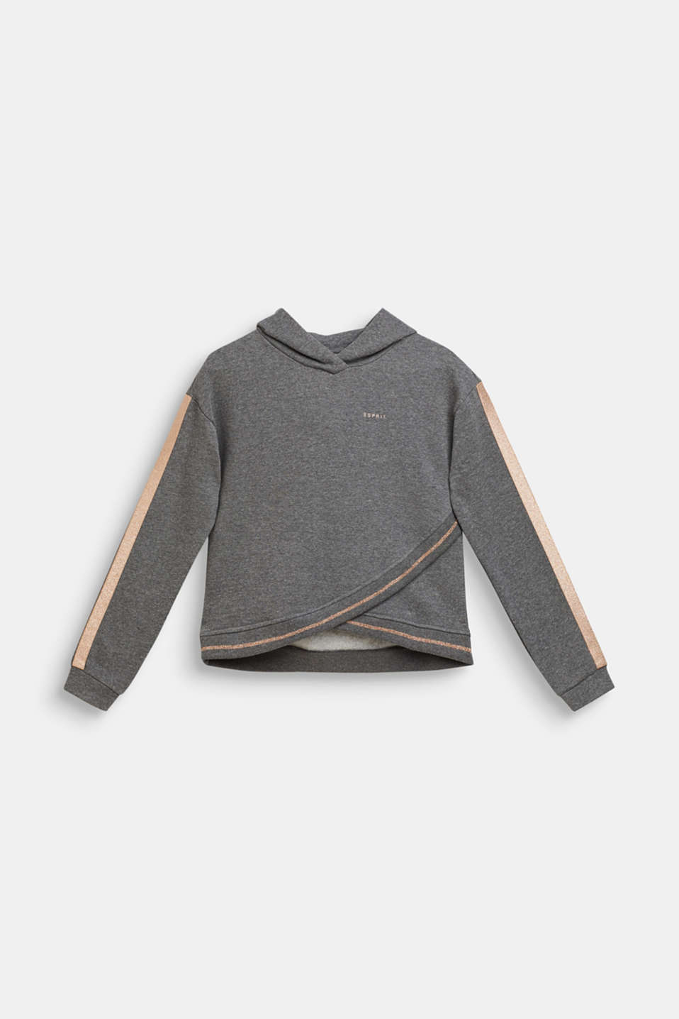 Esprit - Sweatshirt fabric hoodie with glitter details