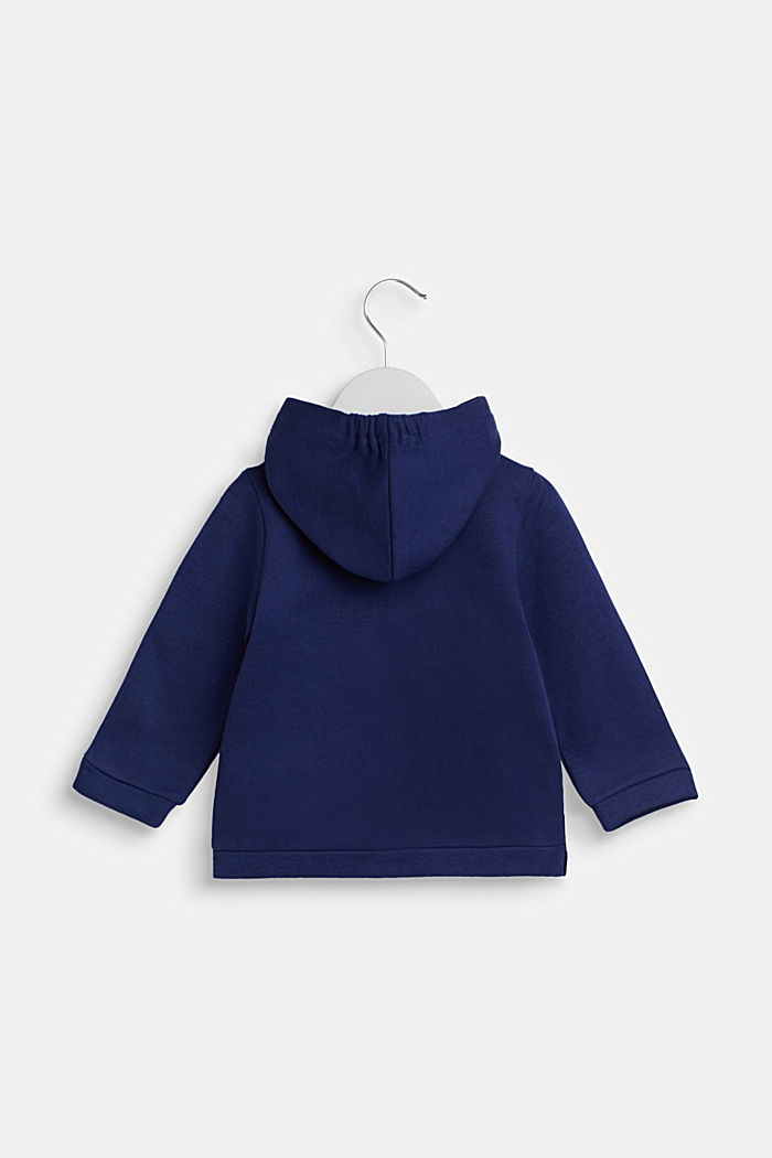 Hoodie in 100% cotton, LCMARINE BLUE, detail image number 1