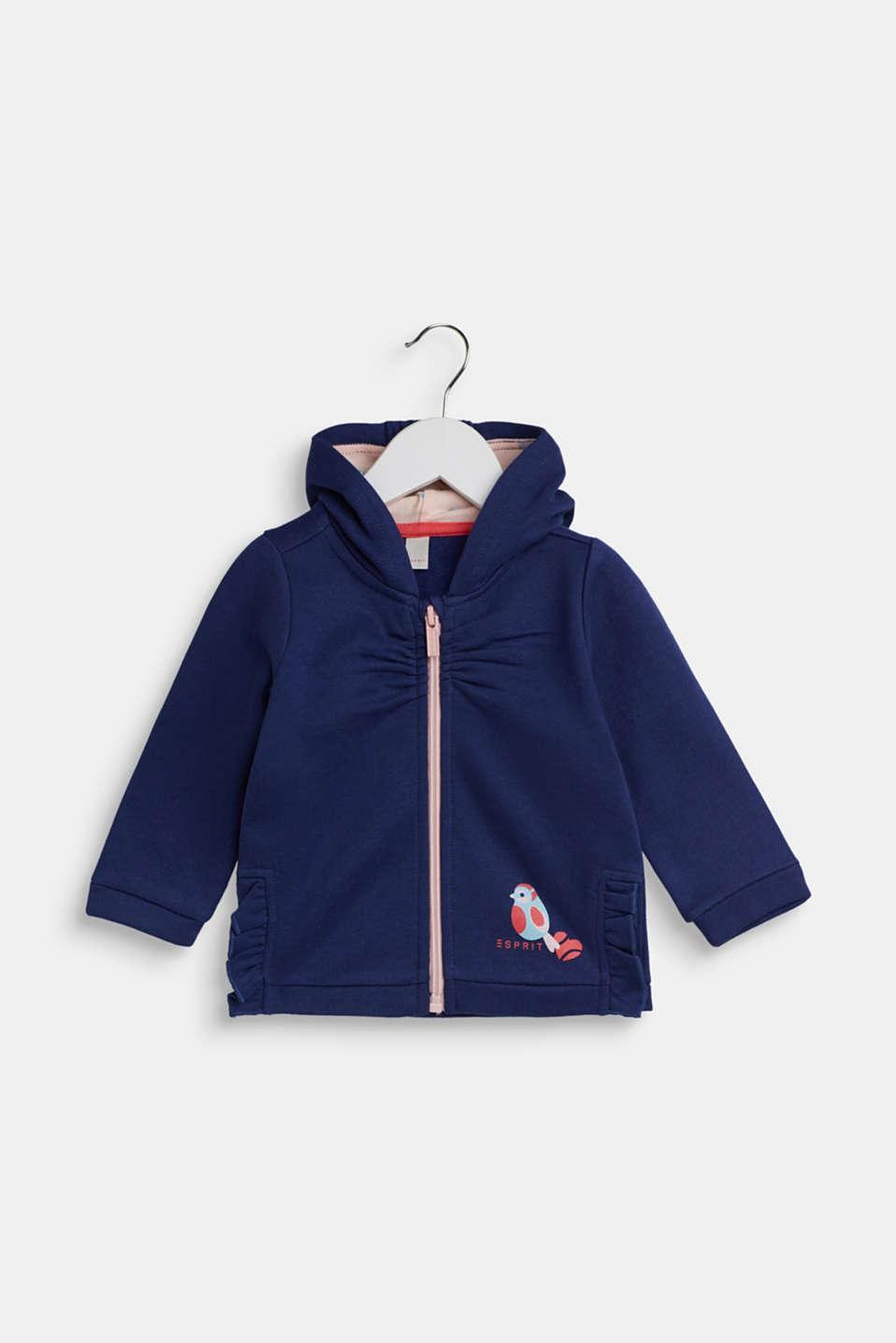 Hoodie in 100% cotton, LCMARINE BLUE, detail image number 0