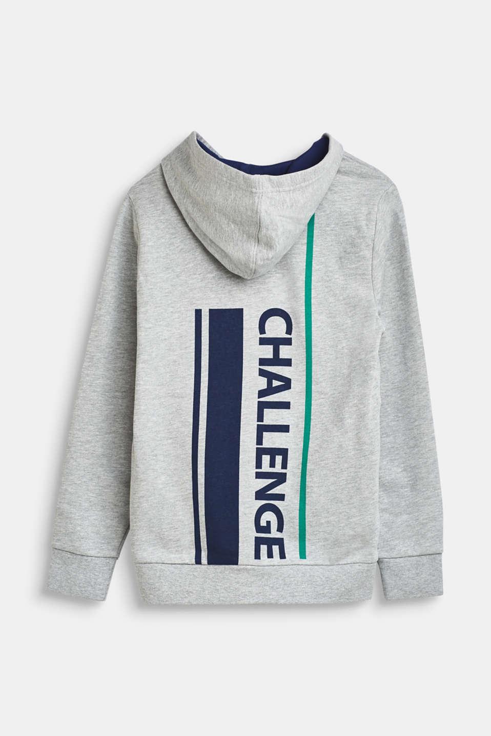 Sweatshirts cardigan, LCHEATHER SILVER, detail image number 1