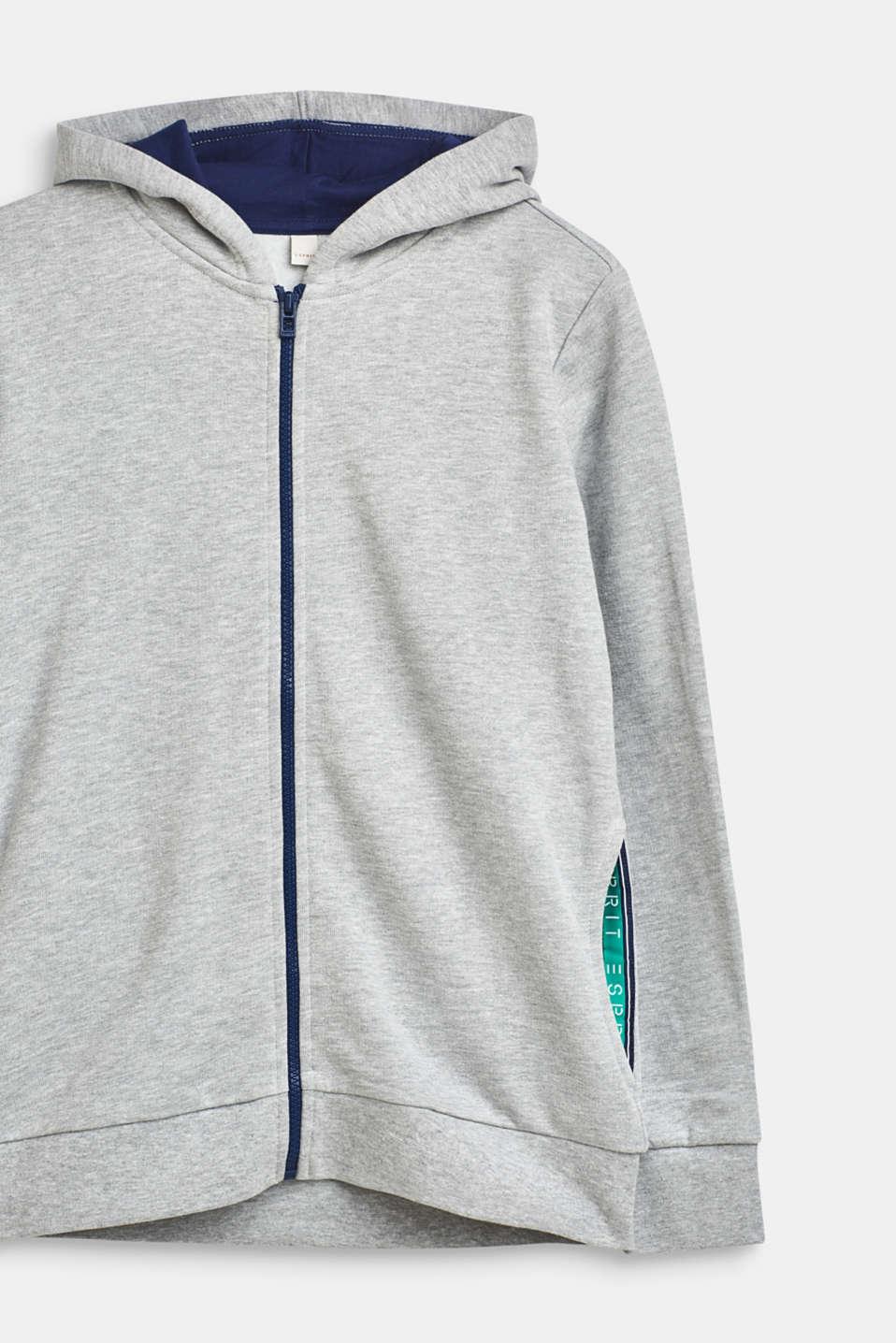 Sweatshirts cardigan, LCHEATHER SILVER, detail image number 2