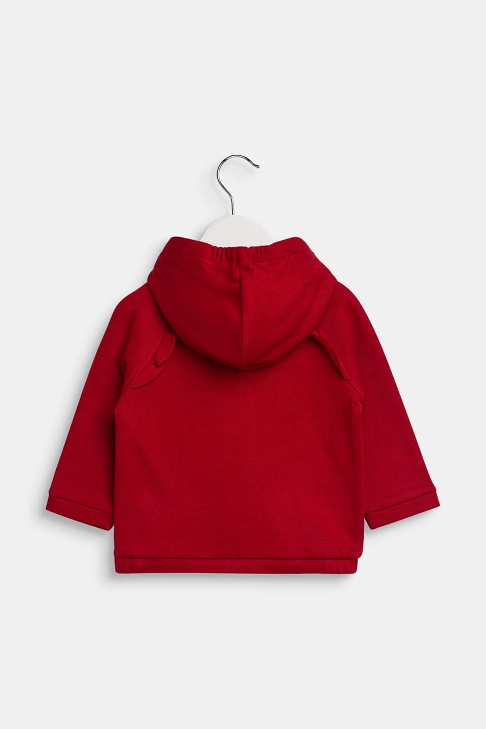 Sweatshirt cardigan in 100% cotton, LCTIBETAN RED, detail image number 1