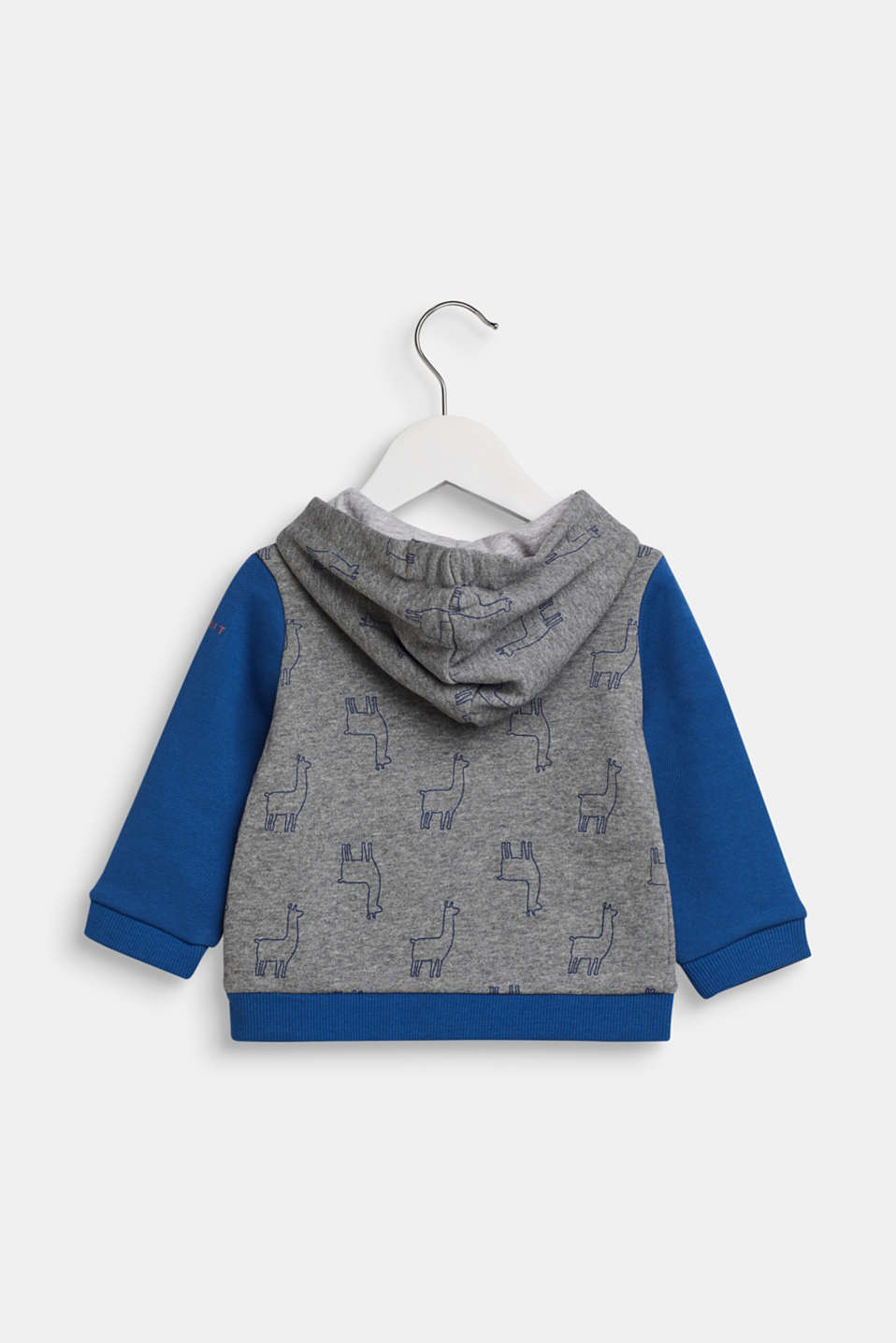 Sweatshirt cardigan in 100% cotton, LCINDIGO, detail image number 1