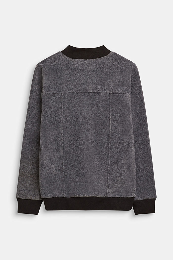 Giacca in pile stile bomber, LCGREY, detail image number 1