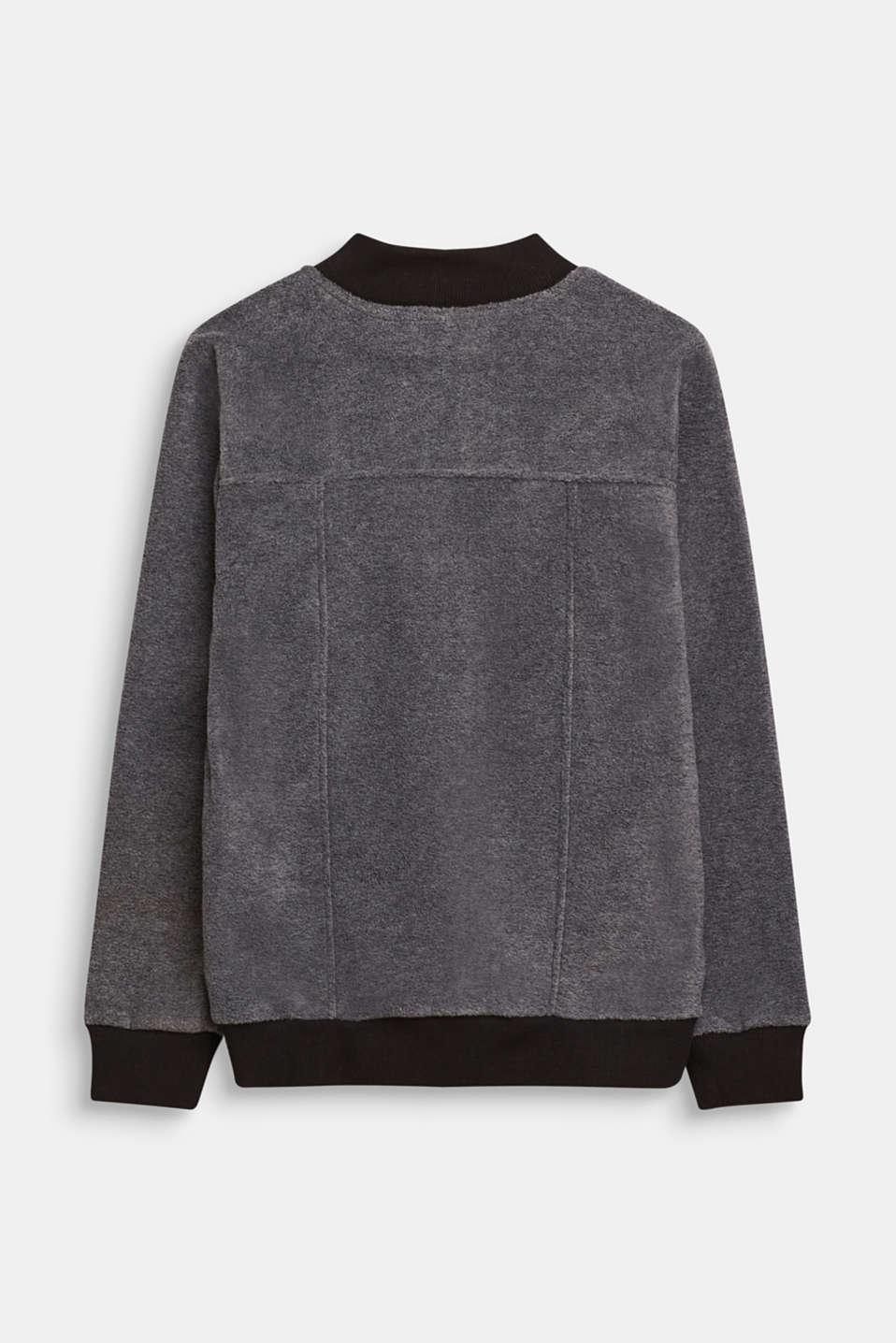 Fleece bomber jacket, LCGREY, detail image number 1