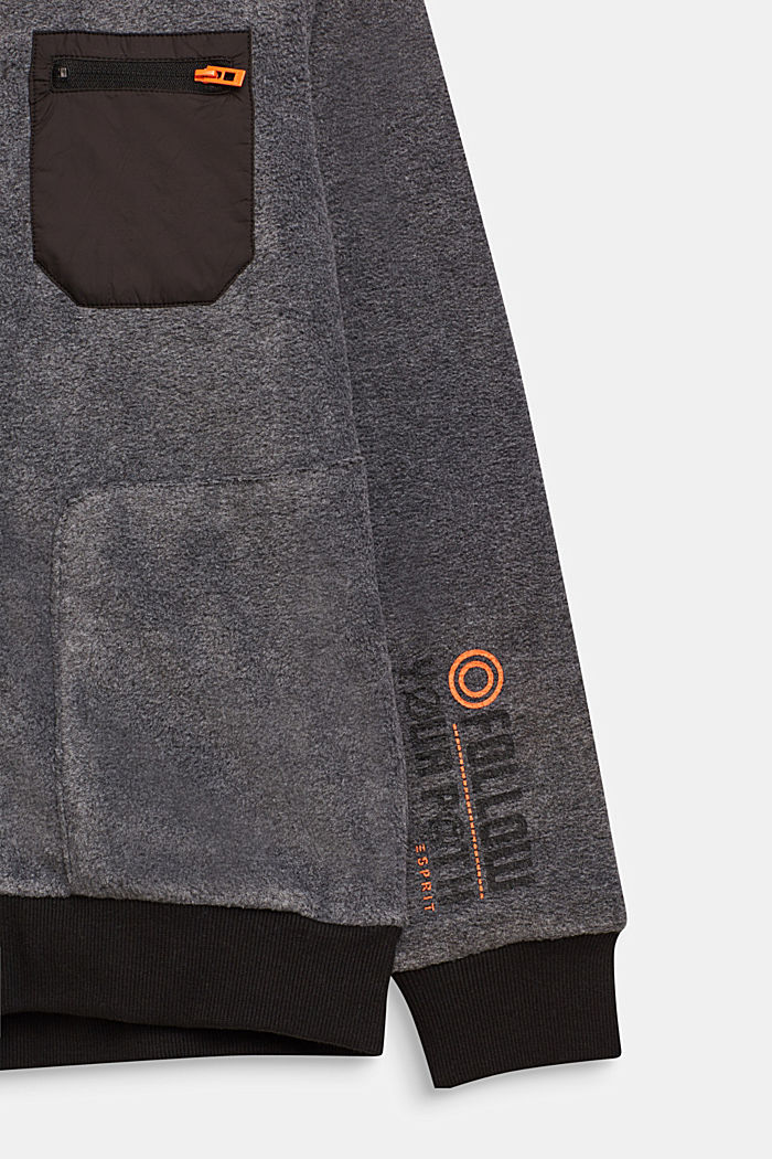 Giacca in pile stile bomber, LCGREY, detail image number 2
