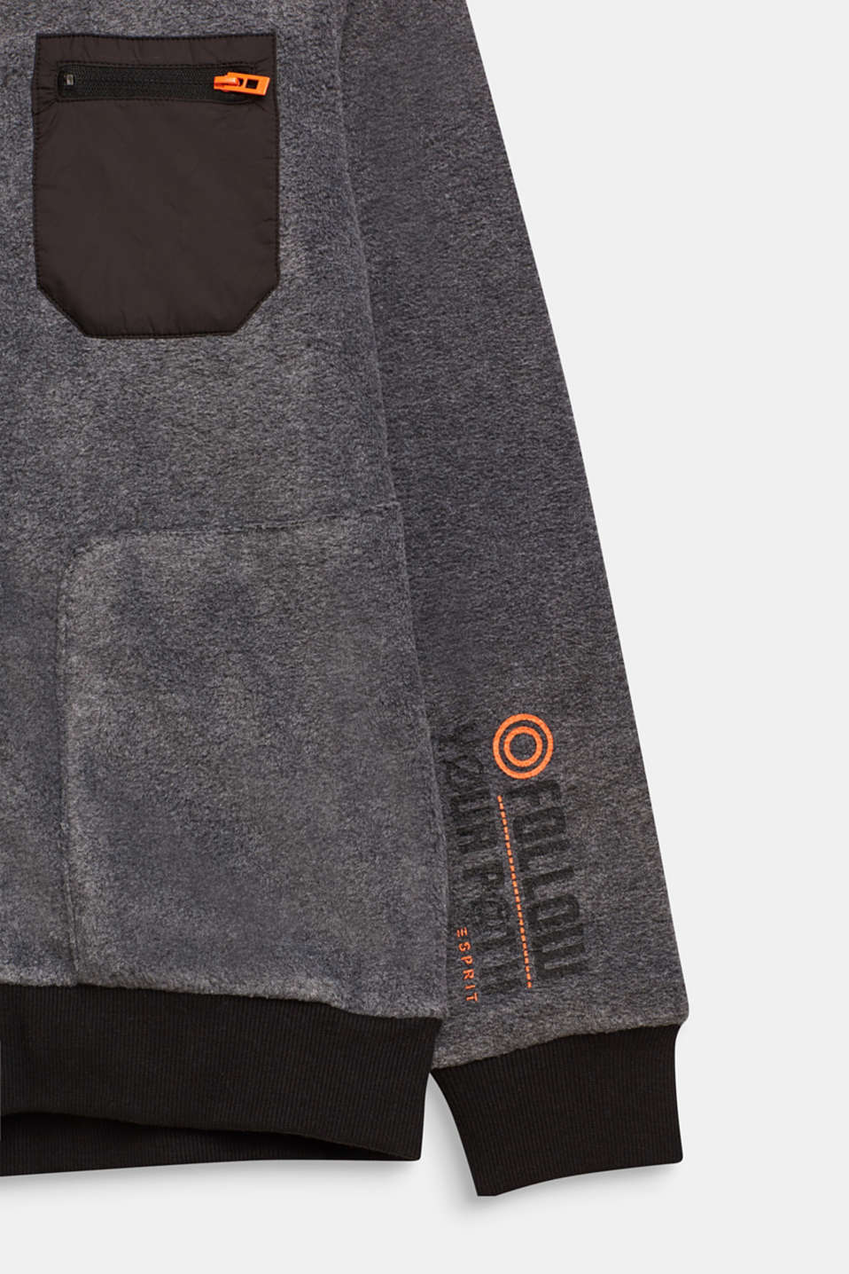 Fleece bomber jacket, LCGREY, detail image number 2
