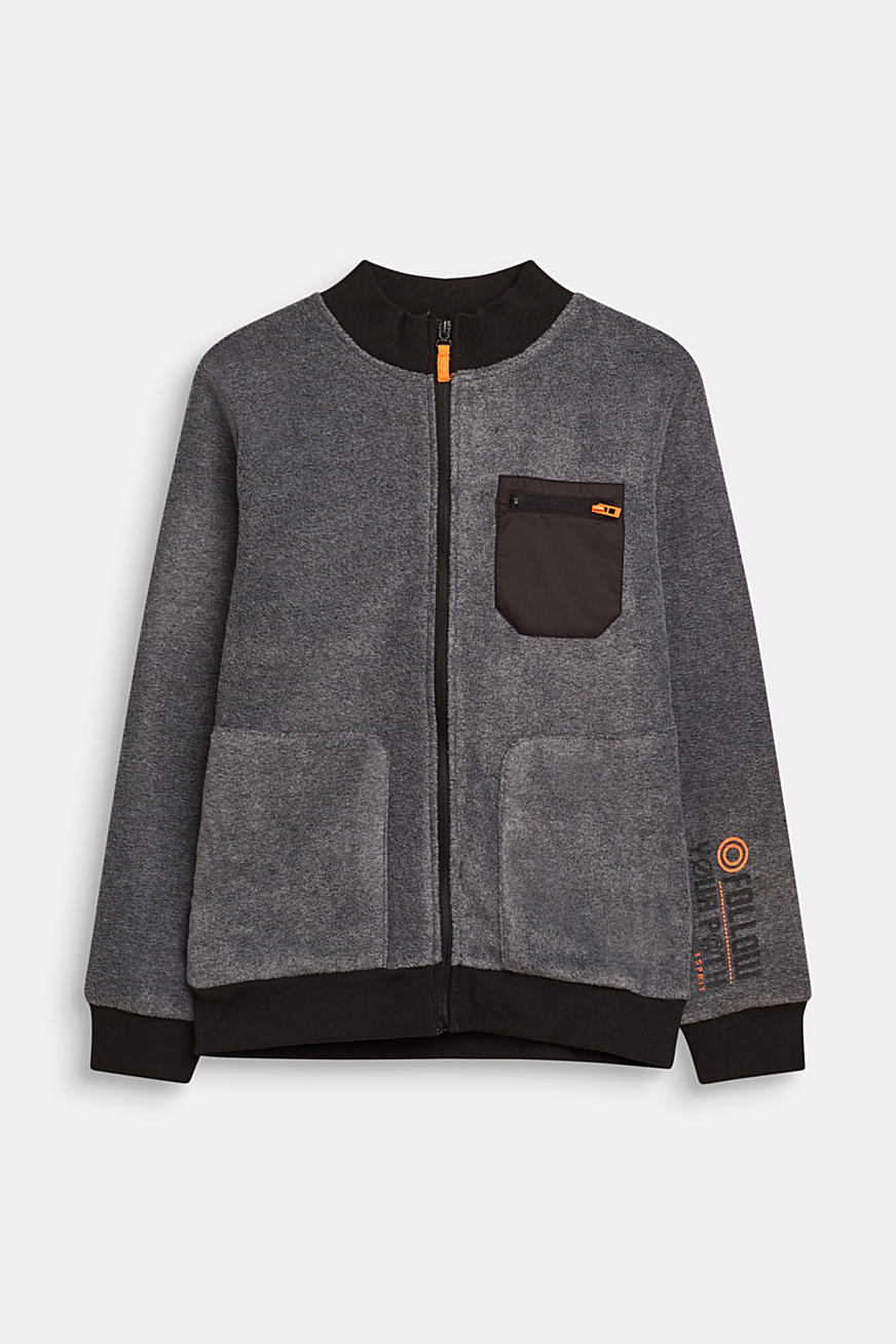 Fleece vest in bomberstijl