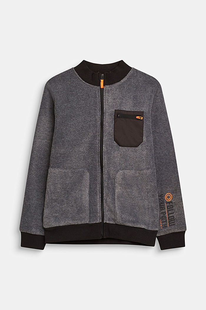 Giacca in pile stile bomber, LCGREY, detail image number 0