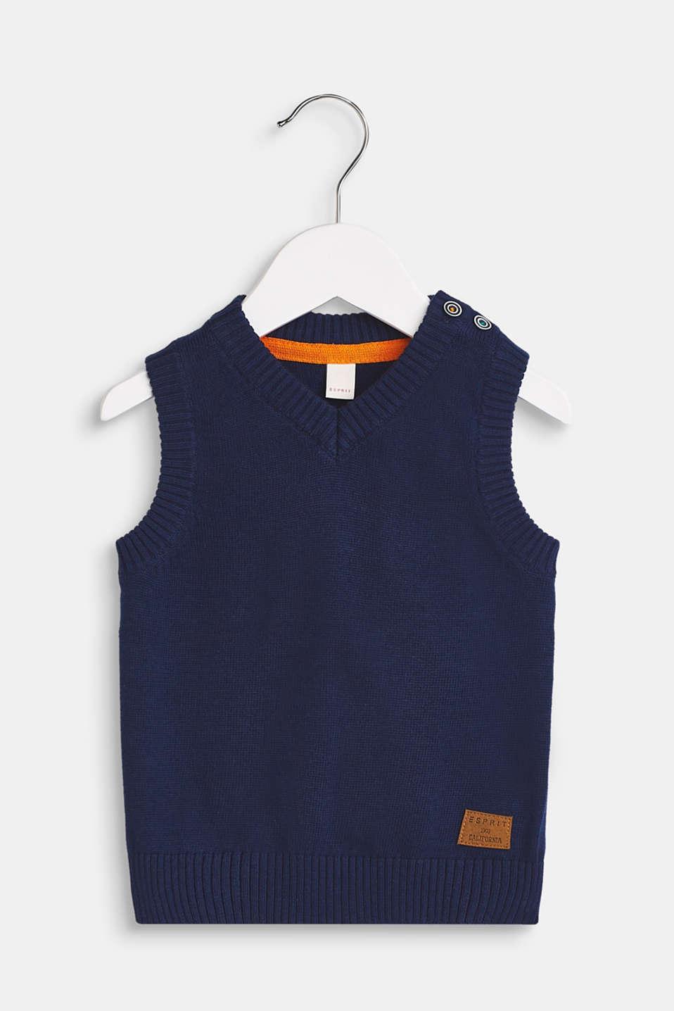 100% cotton tank top, LCMARINE BLUE, detail image number 0
