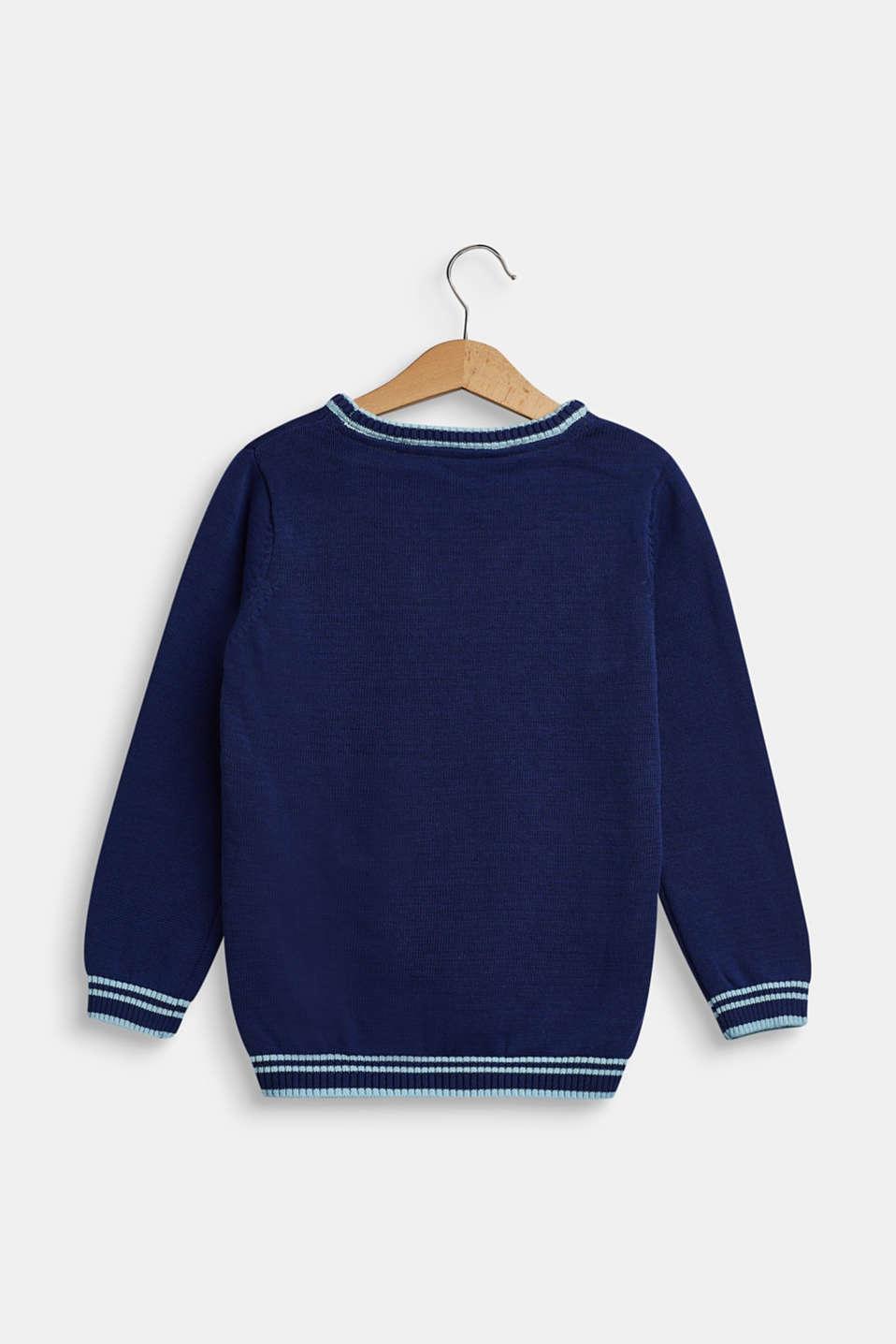100% cotton jumper, MARINE BLUE, detail image number 1