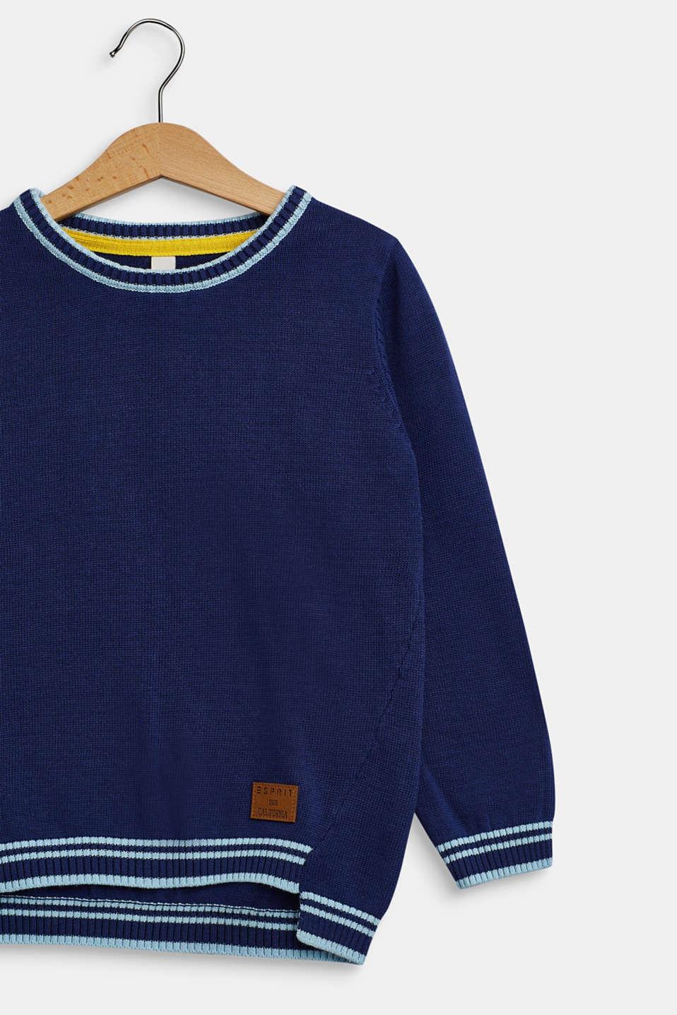 100% cotton jumper, MARINE BLUE, detail image number 2