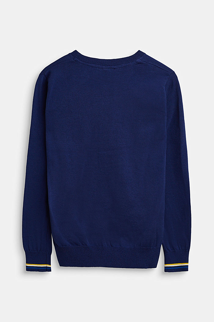 Pull-over 100% coton, LCMARINE BLUE, detail image number 1