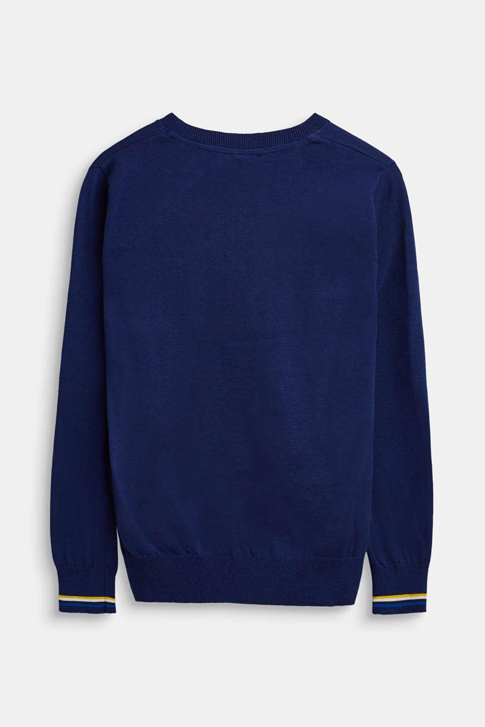 100% cotton jumper, LCMARINE BLUE, detail image number 1