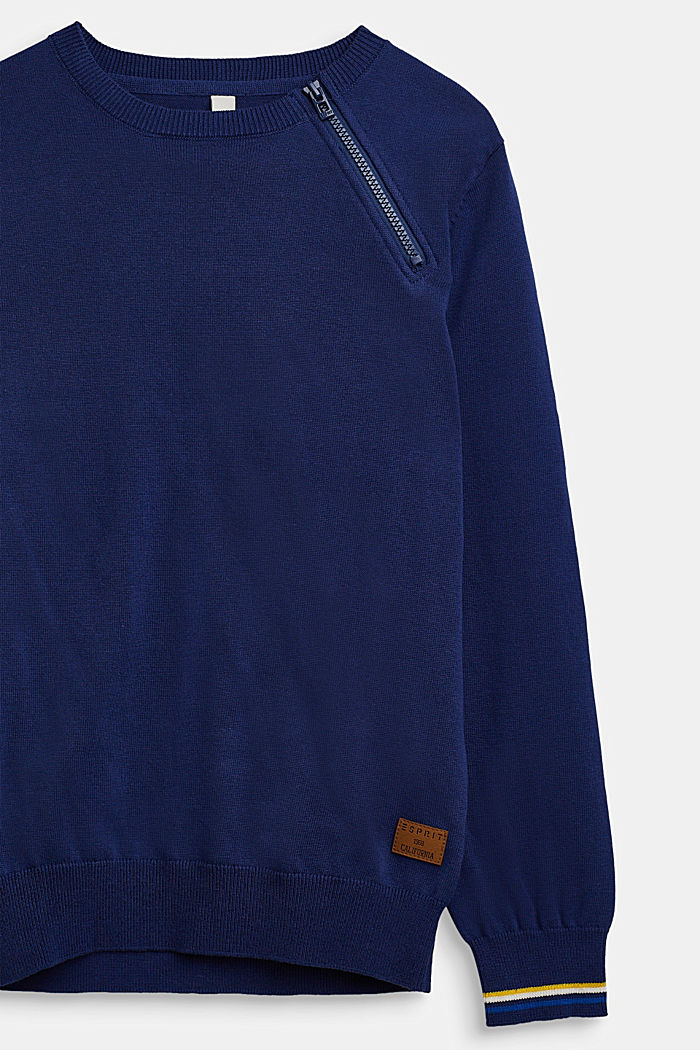 Pull-over 100% coton, LCMARINE BLUE, detail image number 2