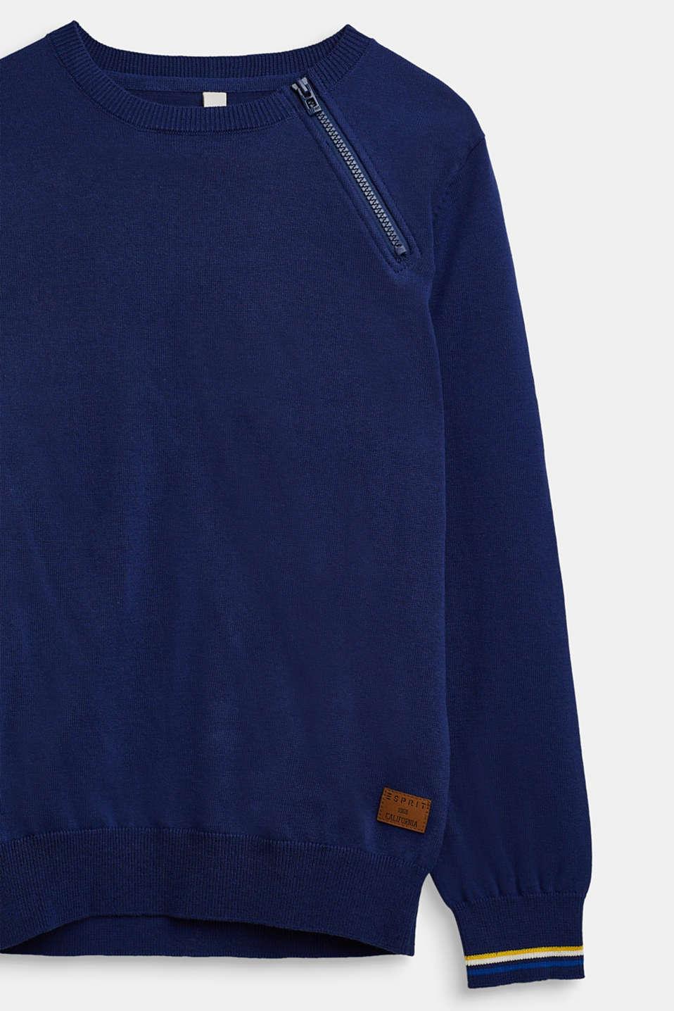 100% cotton jumper, LCMARINE BLUE, detail image number 2