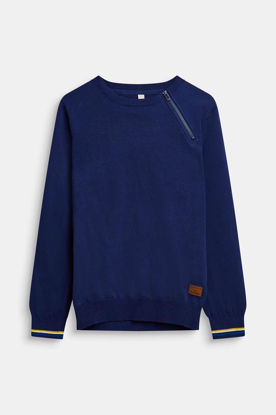 100% cotton jumper, LCMARINE BLUE, detail image number 0