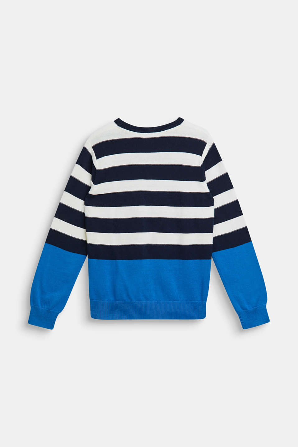 Striped jumper, 100% cotton, LCNAVY, detail image number 1