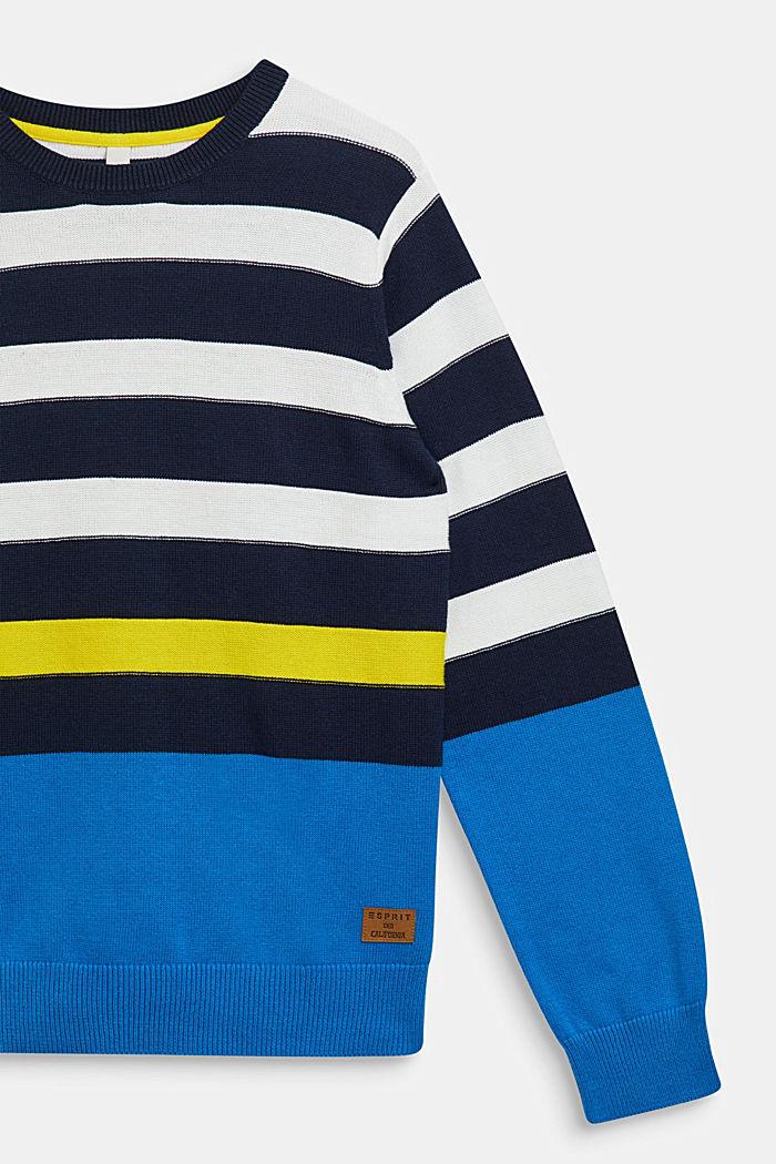 Striped jumper, 100% cotton, NAVY, detail image number 2