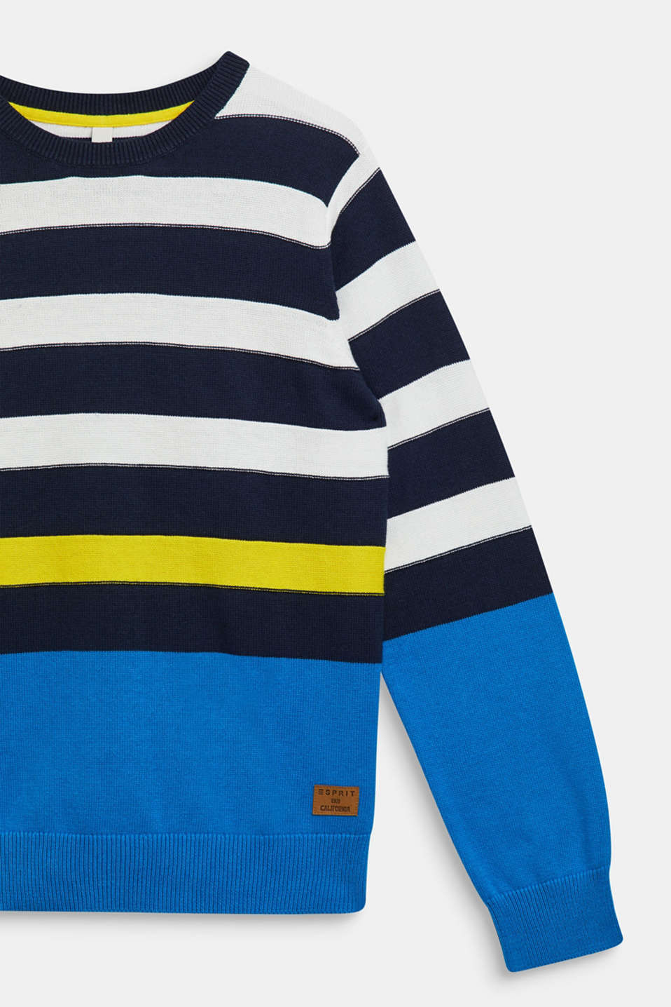 Striped jumper, 100% cotton, LCNAVY, detail image number 2