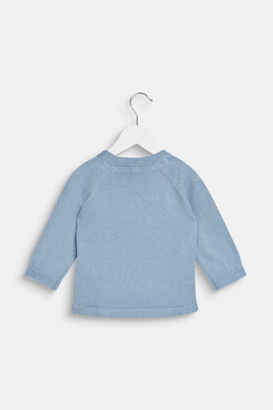 Jumper with llama intarsia, 100% cotton, LCGREY BLUE, detail image number 1