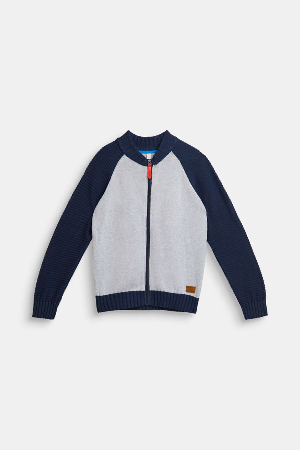 Esprit - Colour block cardigan, 100% cotton