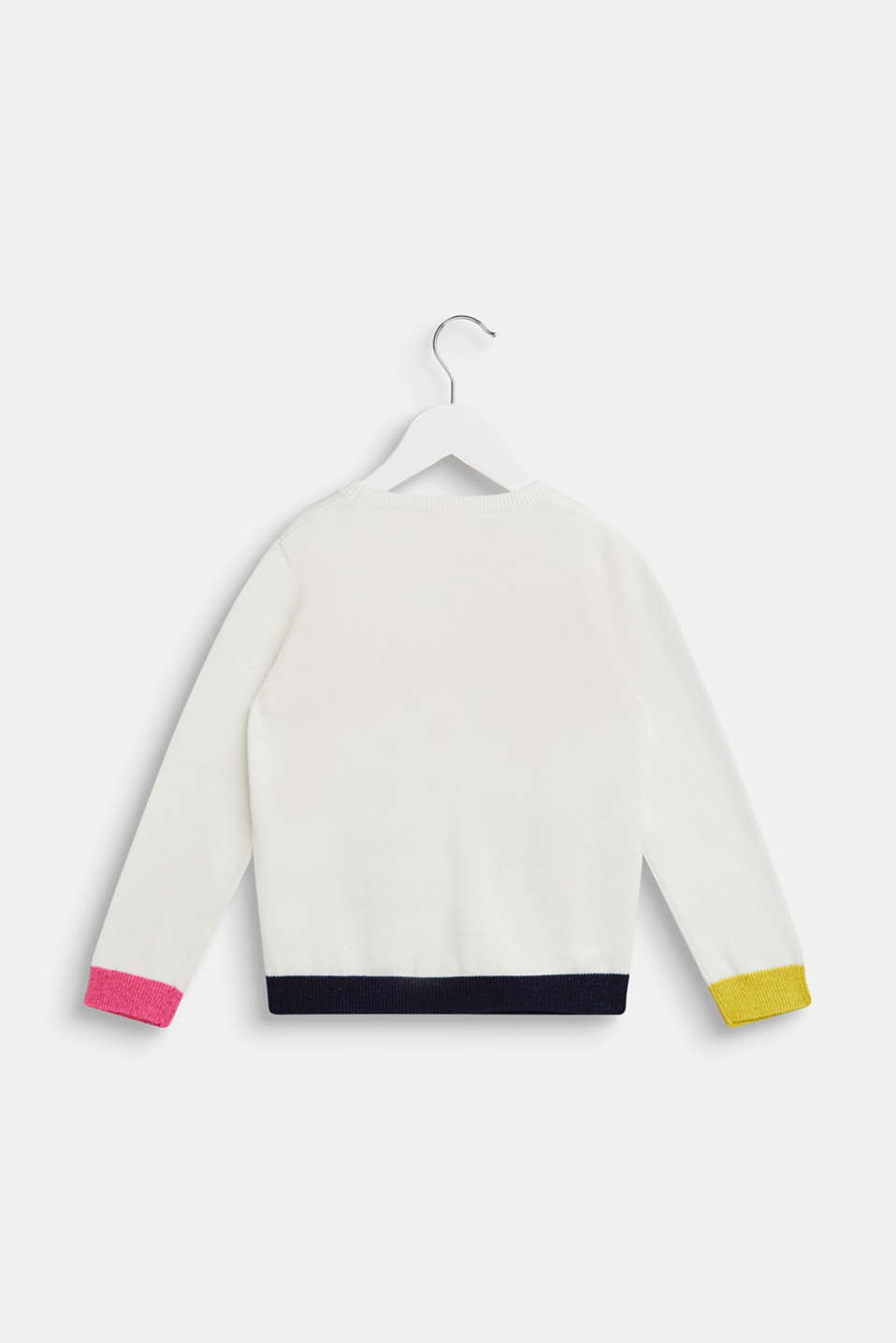 Jumper with a colourful statement, OFF WHITE, detail image number 1