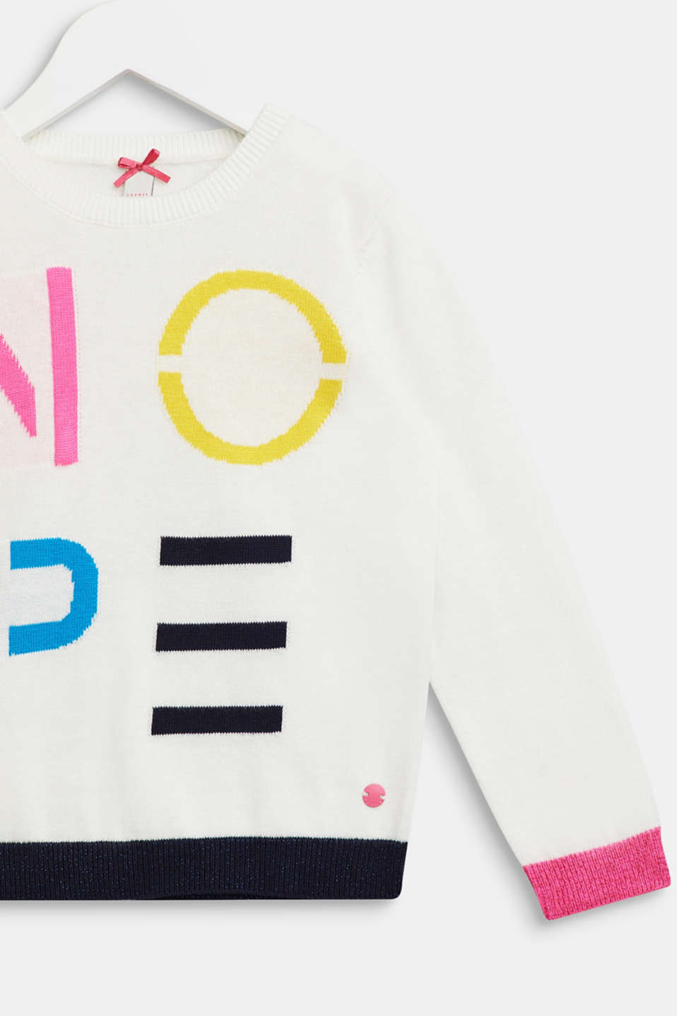 Jumper with a colourful statement, OFF WHITE, detail image number 2