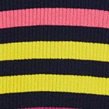 Rib knit jumper with colourful stripes, NAVY, swatch