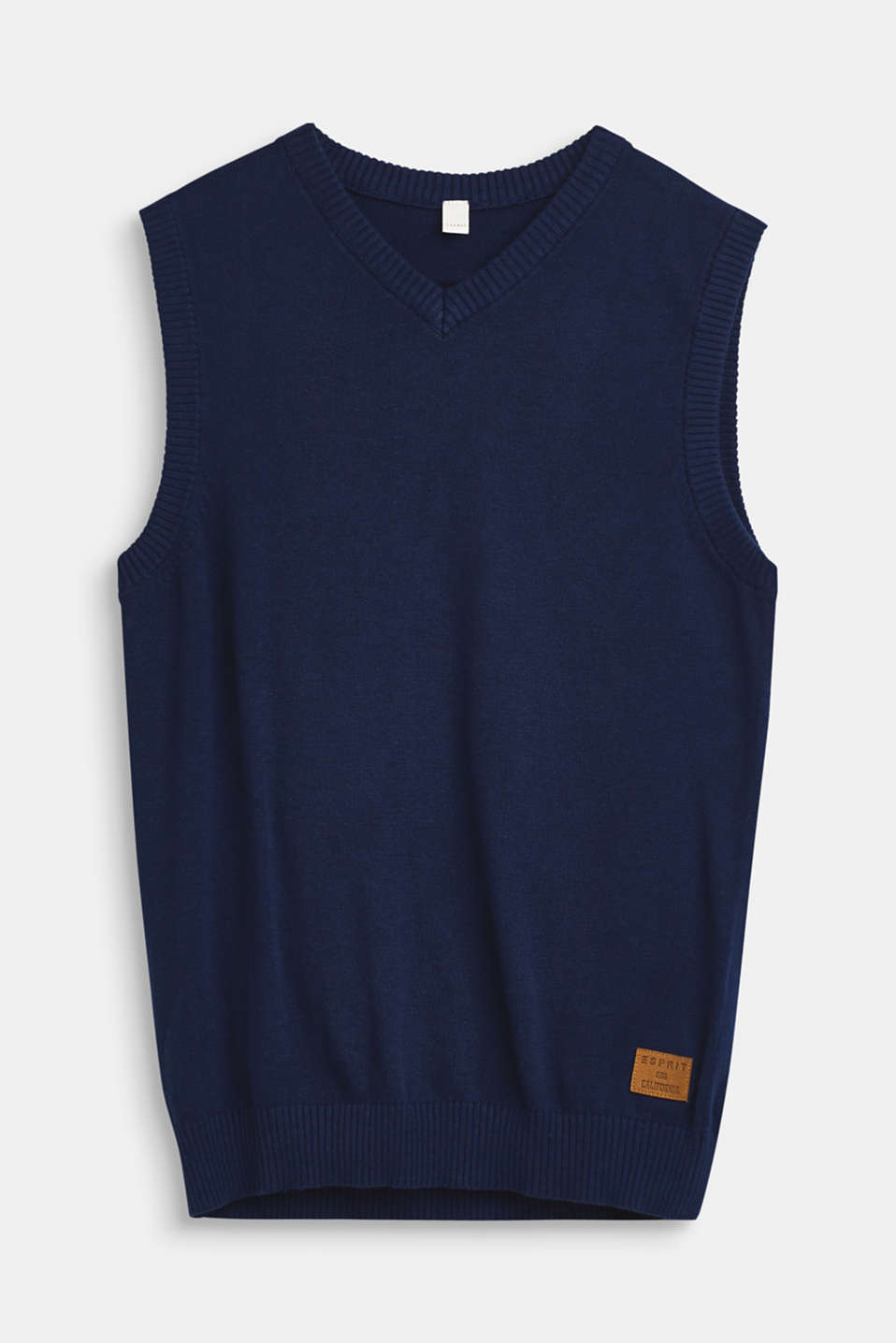 100% cotton tank top, LCMARINE BLUE, detail image number 0
