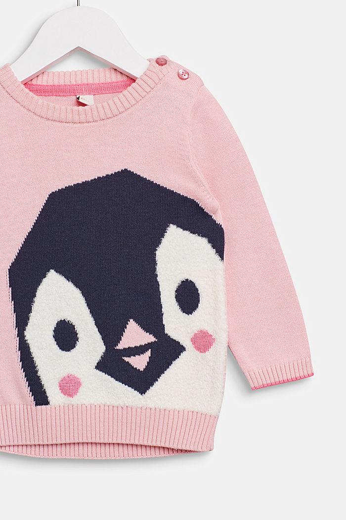 Tröja med pingvinmotiv, LCLIGHT PINK, detail image number 2