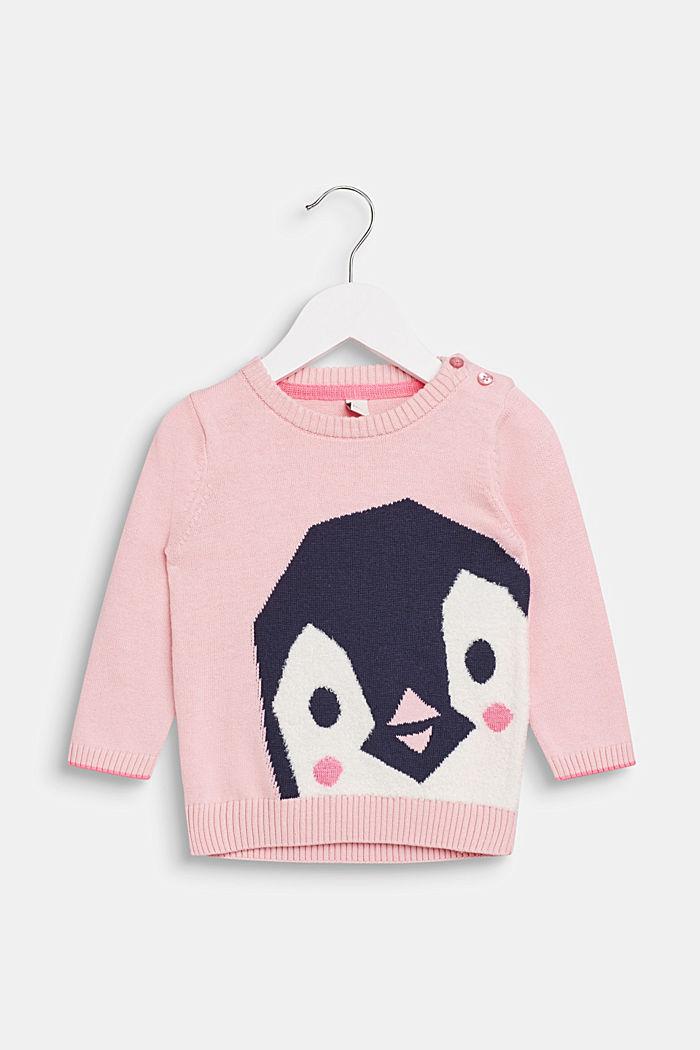 Tröja med pingvinmotiv, LCLIGHT PINK, detail image number 0