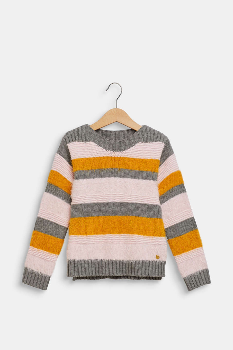 Esprit - Jumper with fluffy stripes
