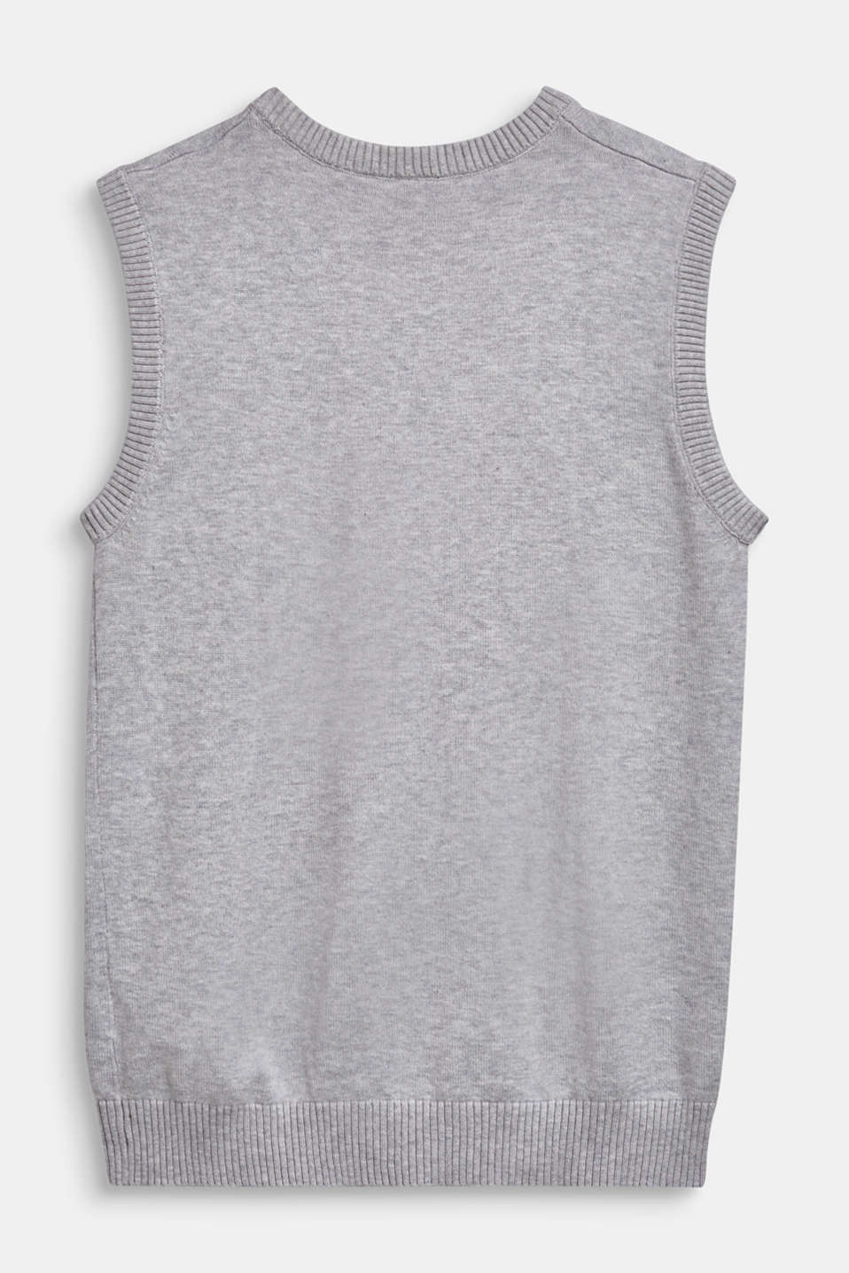 100% cotton tank top, LCHEATHER SILVER, detail image number 1