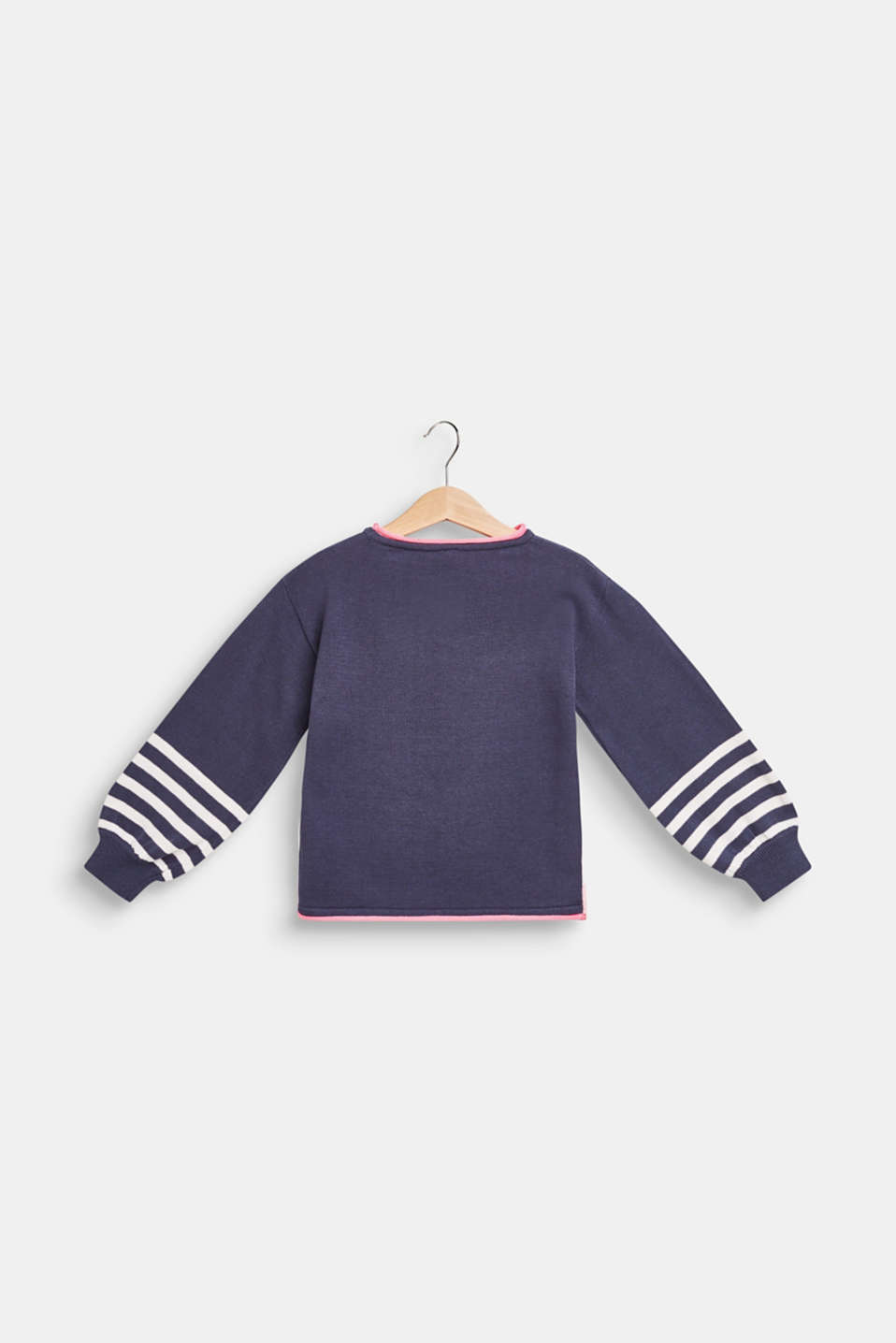 Jumper with a penguin motif, 100% cotton, MIDNIGHT BLUE, detail image number 1