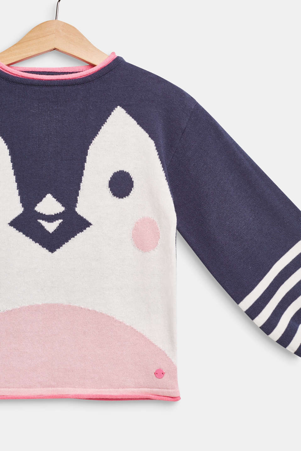 Jumper with a penguin motif, 100% cotton, MIDNIGHT BLUE, detail image number 2