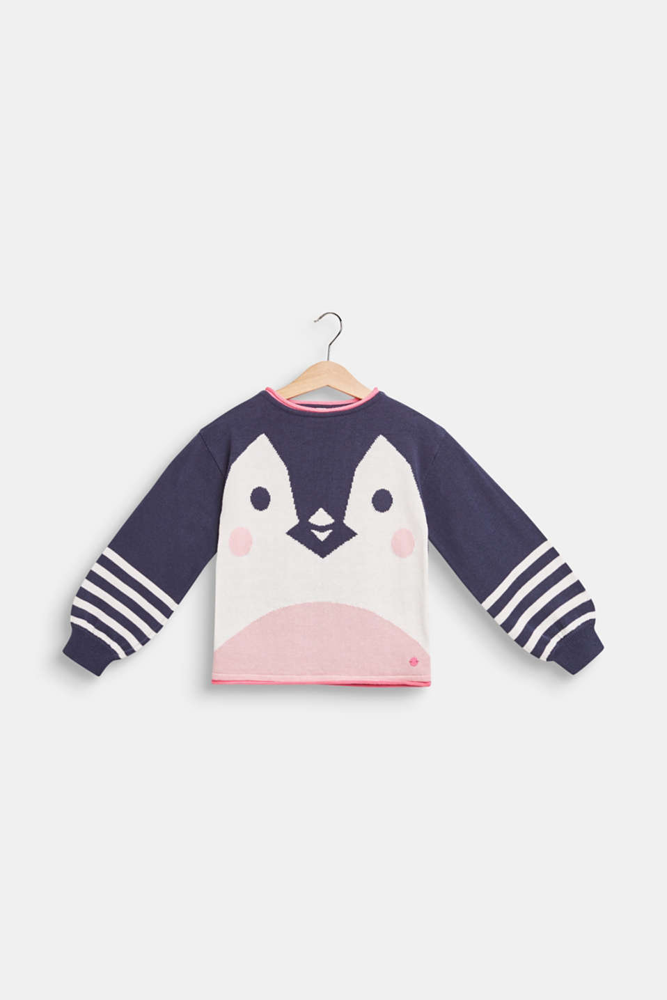 Jumper with a penguin motif, 100% cotton, MIDNIGHT BLUE, detail image number 0