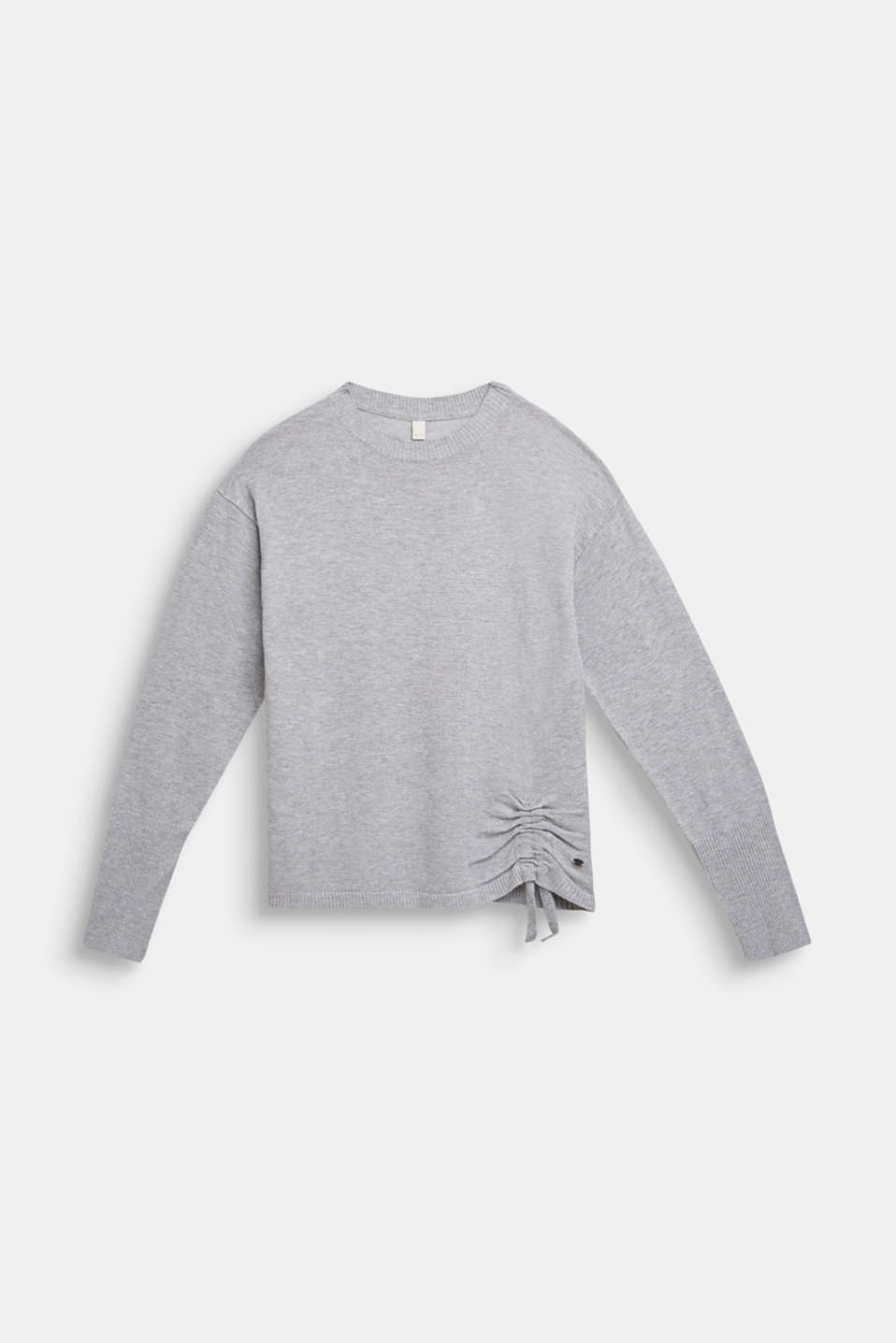 Esprit - Fine knit jumper with gathers