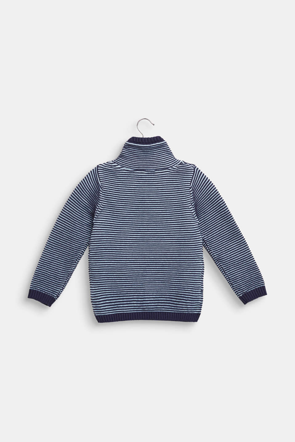 Turtleneck jumper made of 100% cotton, ULTRAMARINE, detail image number 1