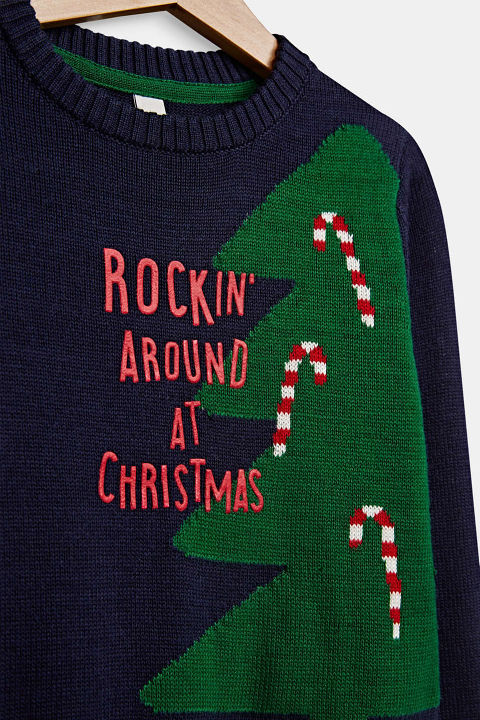 Xmas jumper with a jacquard motif, NAVY BLUE, detail image number 2