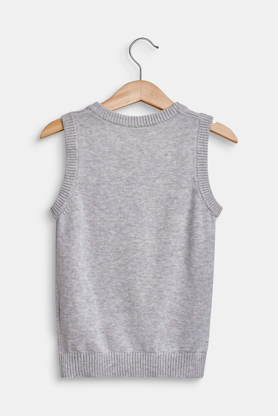 100% cotton tank top, HEATHER SILVER, detail image number 1