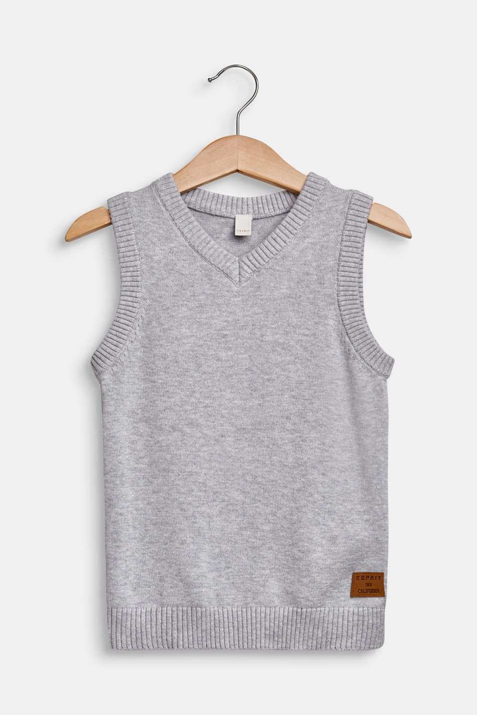 100% cotton tank top, HEATHER SILVER, detail image number 0