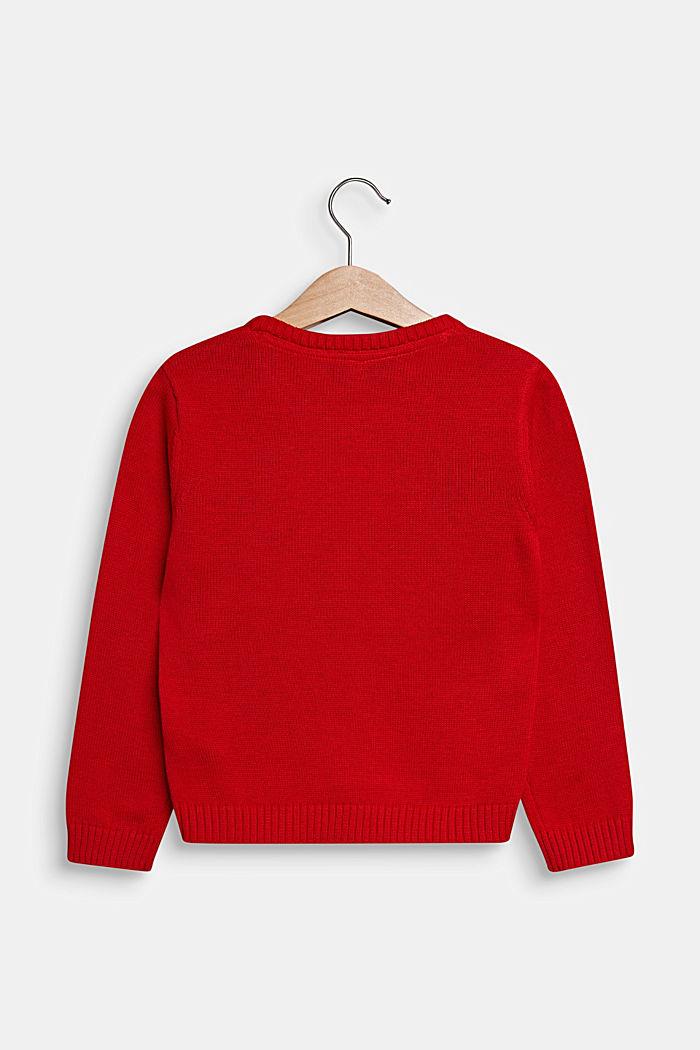 Vánoční pulovr se třpytkami a pajetkami, POPPY RED, detail image number 1