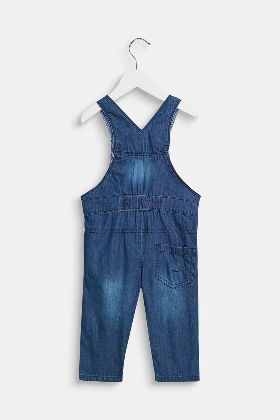 Ultra lightweight denim dungarees, LCMEDIUM WASH DE, detail image number 1