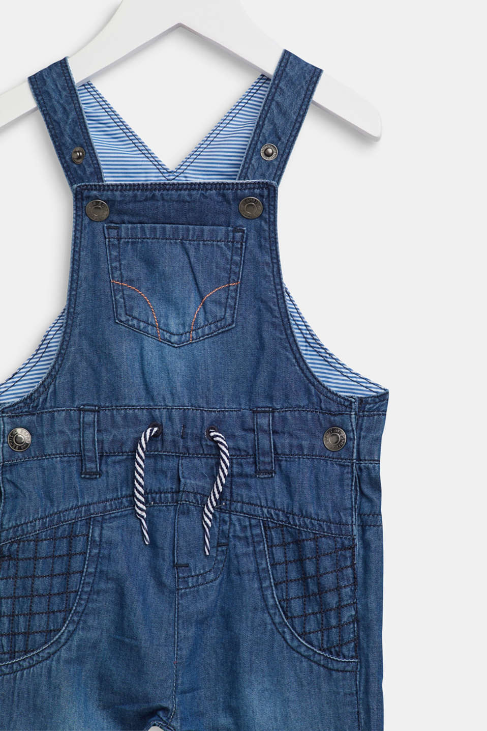 Ultra lightweight denim dungarees, LCMEDIUM WASH DE, detail image number 2