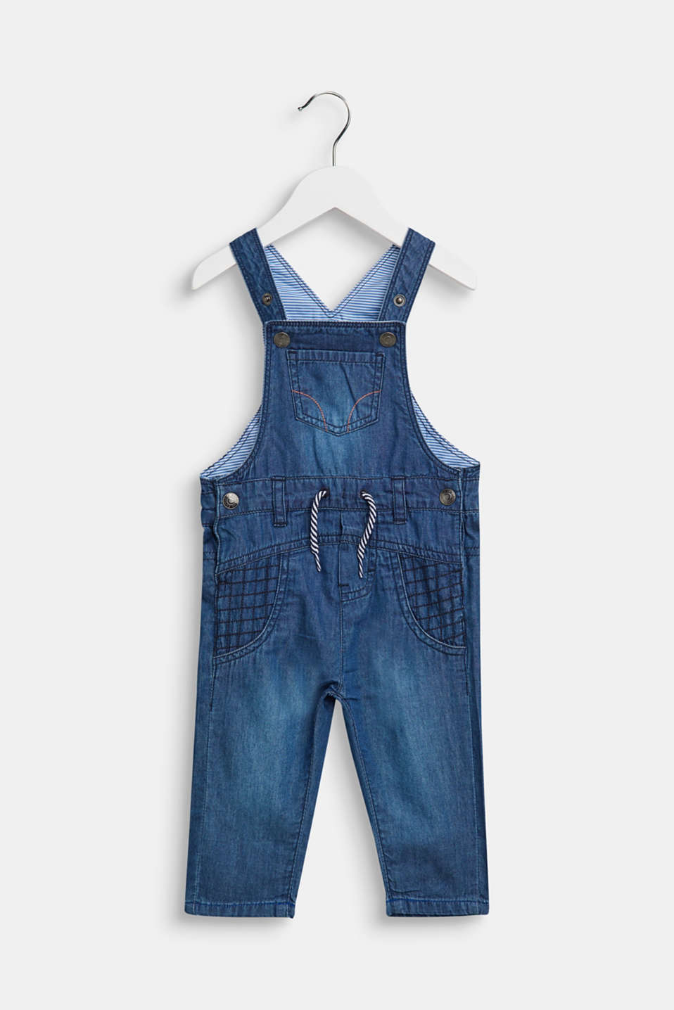 Ultra lightweight denim dungarees, LCMEDIUM WASH DE, detail image number 0