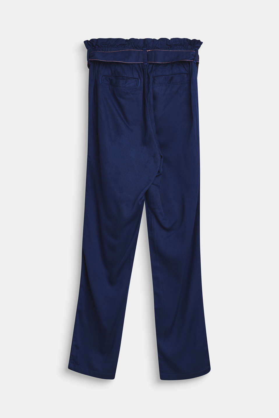 Lightweight trousers with a paper bag waistband, LCMARINE BLUE, detail image number 1