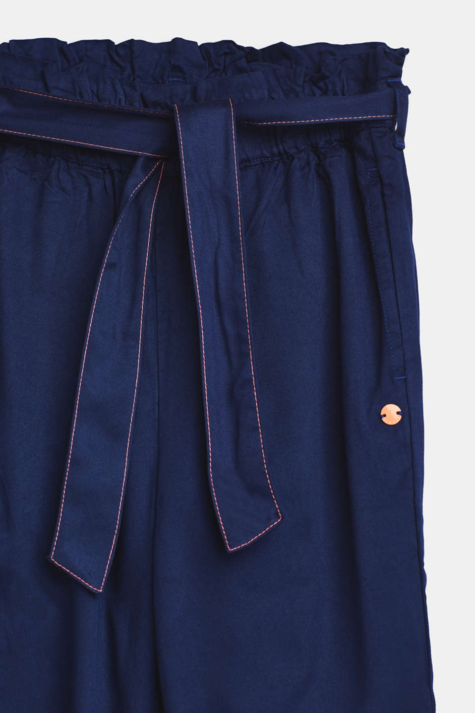 Lightweight trousers with a paper bag waistband, LCMARINE BLUE, detail image number 2