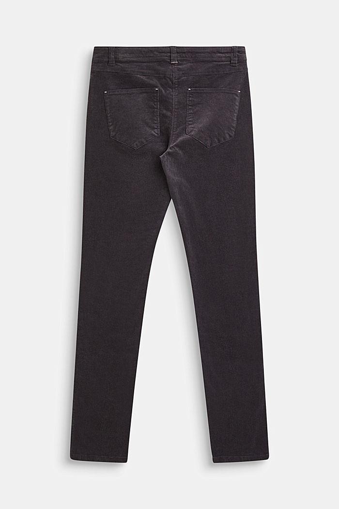 Stretch cotton corduroy trousers, LCLIGHT GUN META, detail image number 1
